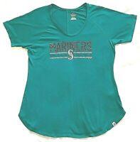 Seattle Mariners Majestic Women's Crank Up the Heat T-Shirt Aqua