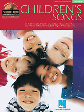 CHILDRENS SONGS Piano Playalong Sheet Music Book & Backing CD