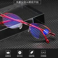 Rimless Reading Glasses Women +1.0 1.5 2.0 2.5 3.0 3.5 4.0 Lens Anti Radiation