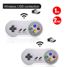 For PC MAC Raspberry Pi Wireless SNES USB Controller Joystick Gamepad 2.4 GHz US
