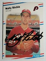 1988 Fleer Wally Ritchie Auto Autograph Card Signed Phillies #312