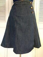 JONES NEW YORK Size 6 Denim Wrap Skirt Petite A Line Sport Casual