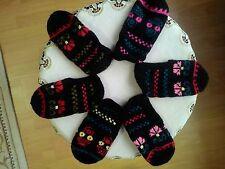 Hand Knitted Socks Traditional Turkish Slippers Worsted Wool Women And Men