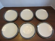 "6 - Black Contessa Bread & Butter Plate by Gorham EUC 6.25"" PLATES"