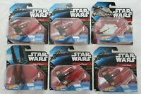 Hot Wheels x Star Wars Die Cast New In Box Starship Fighters Lot of 6