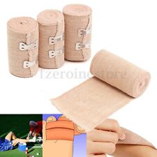 4 Rolls Non-woven 15ft Crepe Bandage Hook Closure Rubber Elastic Dressing Tape