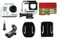 Used GoPro Hero 3+ Plus Silver 1080P Hd Sport Camera waterproof case 16Gb card