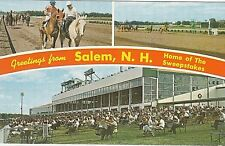 Vintage 1960's Postcard Greetings from Salem,NH Home of the Sweepstakes CHROME
