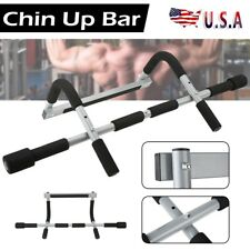 Door Pull Up Bar Exercise Strength Doorway Fitness Gym Chin Up Workout Bar Black