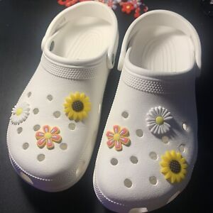 Shoe Charms For Crocs - POPULAR Set of 6 CHARMS - Flowers Fits Like Jibbitz