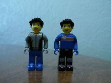 Lego Kids Mini Figures Lot of 2 Skaters Bikers
