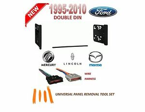 1995-2010 FORD LINCOLN MERCURY MAZDA 2 DIN CAR STEREO INSTALL DASH KIT, HARNESS