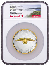 2017 Canada Big Coin Colville Rock Dove 5 oz Silver Gilt NGC PF69 UC ER SKU49092