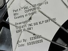 Copperfield #12awg 7Str SIS XHHW-2 XLPE Tinned Copper Hook-Up Wire Gray /50ft