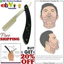 Straight Edge Razor Shaving Blade Barber Shaver Mens Professional