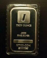 Lingot en argent rare Kitco SMI 1 oz silver bar .9999 sealed scarce