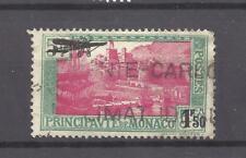 MONACO --- Timbre Poste Aérienne 1 F. 50 s. 5 F. vert et rose-lilas