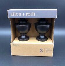 Allen + Roth 1-3/8 in Urn Spiral Finials Espresso Finish 2 Pack 0622936 New