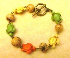 Sea Turtle Bracelet & Acai Palm Seed, Beach Bracelet, Sea Shell Bracelet