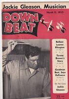 Down Beat Mag Bellson Leaves Ellington Jackie Gleason March 11, 1953 101219nonr