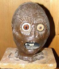 Creepy Handmade Scary Zombie Living Dead Bust Head 1 Of Kind Halloween