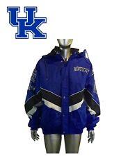 Vintage 90s Starter Kentucky Wildcats Grand Logo Spellout Bleu Zip Dessus Puffer