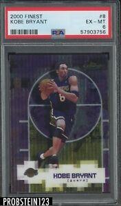 2000 Topps Finest #8 Kobe Bryant Los Angeles Lakers HOF PSA 6 EX-MT