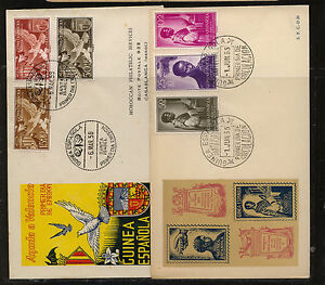 Spanish  Guinea  2 caceht covers  337, B33-34 and B45047     KL0101