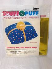 Inflatable Gold Rectangular Gift Wrap New Stuff-N-Puff by Anagram