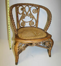 Child's Wicker Chair with Cane Seat – Heywood Brothers – 20 inches height