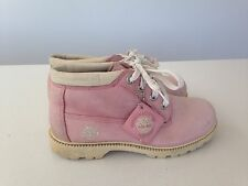 WOMENS BABY PINK SUEDE TIMBERLAND BOOTS UK 4.5 US 7.5 LADIES