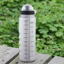 New Gray Cycling Bike Bicycle Sports 1000ml Plastic Water Bottle + Dust Cover
