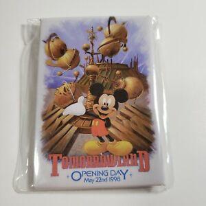 Disneyland Mickey Mouse Pinback Button 1998 Tomorrowland Opening Day