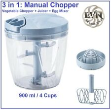 Manual Vegetable Chopper, Juicer & Egg Mixer (900ml - 4cup).
