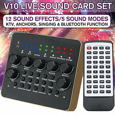 V10 DSP Audio Live Sound Card Device Microphone Headset Mixer Phone Computer
