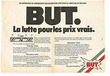 Publicité Advertising 1981 (2 pages) Les magasins BUT