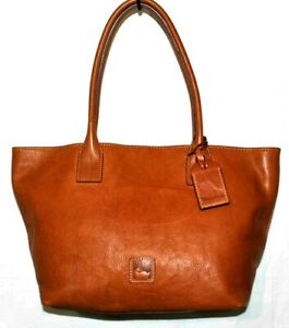 Dooney & Bourke Florentine Leather Small Russell Tote Bag, Natural $378  A394690