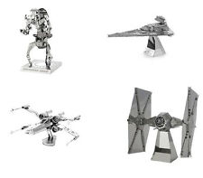 Metal Earth 3D Model Kits Star Wars Set of 4 X-Wing Destroyer Droid Tie Imperial