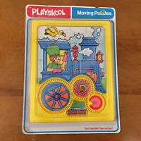 Vintage Playskool Moving Puzzle Train Sealed NOS