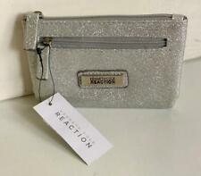 NEW! KENNETH COLE REACTION SILVER METALLIC COIN PURSE WALLET $30 SALE