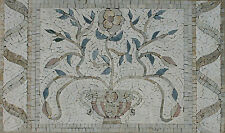 Ancient Abstract Flower Pot Elegance Marble Mosaic Fl767