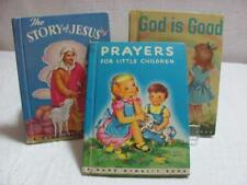 Vintage Rand McNally Children's Books Prayers & More c1950 Three in All