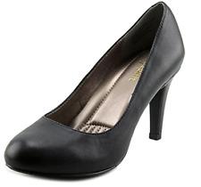 Easy Spirit Women's Round Toe Mid Pumps Black Leather 60427043 (Wide), 8