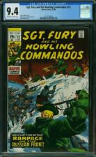 SGT FURY AND HIS HOWLING COMMANDOS 73 CGC 9.4 OWW P 3RD HIGHEST GRADED 1969 A1
