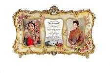 Congratulations - Personalised Handmade Floral Photo Shaadi Wedding Frame Gift