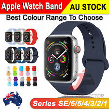 For Apple Watch iWatch Wrist Band 6 3 5 4 SE Silicone Sports Strap 38/40/42/44mm