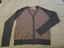 Cullen C89 Men's Blocked Cardigan Brown and Gray NEW XL Extra Large Sweater