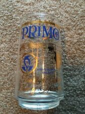 """VINTAGE PRIMO HAWAIIAN BEER GLASS Gold Accents 4 3/4"""" H"""