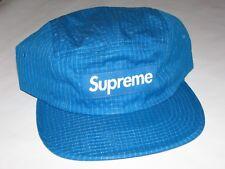 SUPREME New York Overdyed Ripstop Camp Cap Hat BLUE Adjustable NEW F/W 2017 BOGO