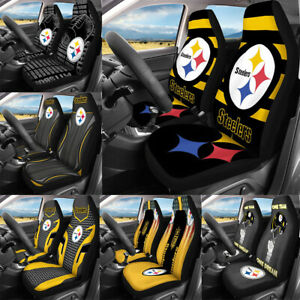 Pittsburgh Steelers Universal Fit Car Front Seat Covers 2PCS Cushion Protectors